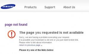 Samsung - Página no encontrada - 404